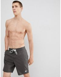 Hollister - Magic Print Board Shorts Ombre Pineapples Come Out When Wet In Washed Black - Lyst