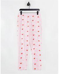 ASOS Mix & Match Tie Dye Heart Pyjama legging - Pink