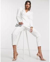Lavish Alice – Elegante Hose mit Knopfdetail, - Weiß