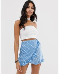 f12302a007 Motel High Waist Mini Skirt In Large Sequin Co-ord in Pink - Lyst