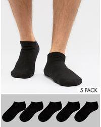 Jack & Jones - Набор Из 5 Пар Спортивных Носков -черный - Lyst