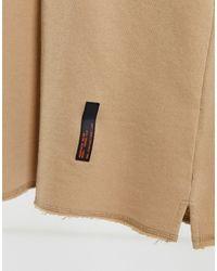 Bershka T-shirt con bordi grezzi grigio pietra slavato - Neutro