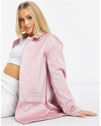Threadbare Tayla Pu Snake Print Blazer - Pink