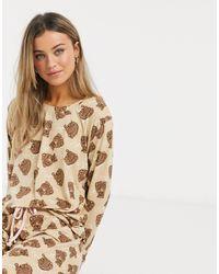 Chelsea Peers Pyjama Met Berenprint - Meerkleurig