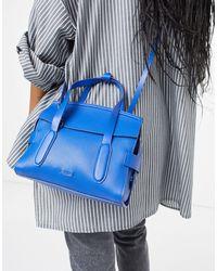 Reiss Sophie - Sac bandoulière en cuir - électrique - Bleu