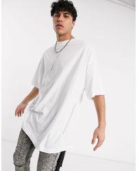 ASOS Extreme Oversized Longline T-shirt - White