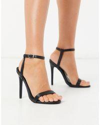 Missguided Minimalistische Sandalen Met Hak - Zwart