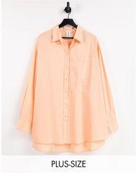 Collusion Camisa color extragrande - Naranja