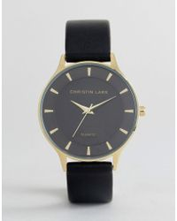 Christin Lars - Black Watch With Round Black Dial - Lyst