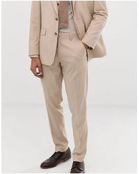 ASOS Wedding Slim Suit Pants - Natural