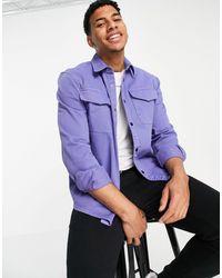 River Island Сиреневая Рубашка Навыпуск -фиолетовый Цвет - Пурпурный