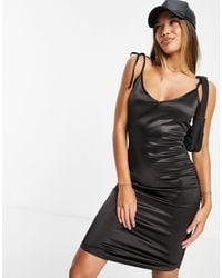 Ivyrevel Ivy Revel Ruched Mini Dress With Side Strap - Black
