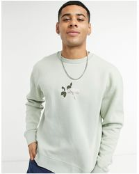 TOPMAN Collateral Print Sweat With Back Print - Green