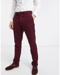 French Connection Pantalones - Rojo