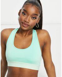 I Saw It First Gym Strappy Back Detail Sports Bra - Green