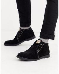 Original Penguin - Черные Замшевые Ботинки -черный - Lyst