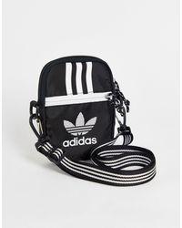 adidas Originals Черная Сумка С Ремешком В Полоску Через Плечо Adicolor-черный Цвет