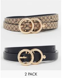 River Island 2 Pack Belt - Multicolour
