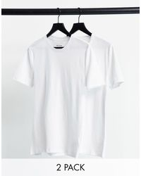 New Look 2 Pack Crew Neck Muscle T-shirt - White