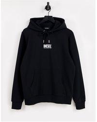 DIESEL Худи Черного Цвета С Маленьким Логотипом S-girl-черный Цвет