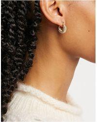 Whistles Mini Engraved Hoop Earrings - Metallic