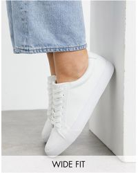 ASOS Wide Fit Demi Trainers - White