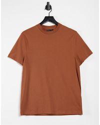 ASOS Camiseta con cuello redondo - Marrón