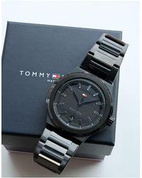 Tommy Hilfiger Мужские Черные Часы-браслет Princeton-черный