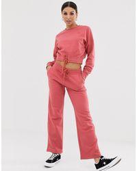 Converse Dusty Pink Straight Leg Joggers