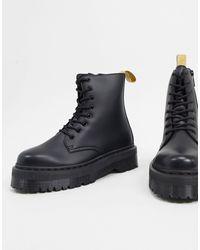 Dr. Martens - Черные Ботинки Из Искусственной Кожи На Платформе -черный Цвет - Lyst