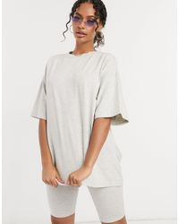The Couture Club Signature Oversized Tee - Grey
