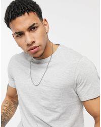 Threadbare Basic Pocket T-shirt - Grey