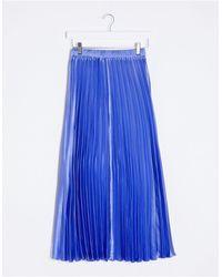 ASOS Falda midi - Azul