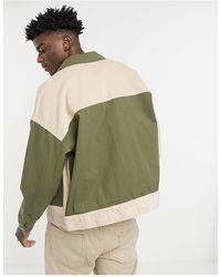 Reclaimed (vintage) Вельветовая Куртка В Стиле Пэчворк Inspired-многоцветный - Зеленый