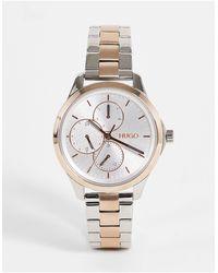 HUGO Women's Mix Metal Bracelet Watch - Metallic