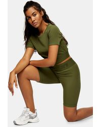 TOPSHOP Sports legging Shorts - Green