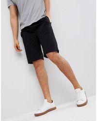 Bellfield Relaxed Skater Shorts In Black
