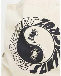 Santa Cruz Scream Ying Yang Tote Bag-white - Natural