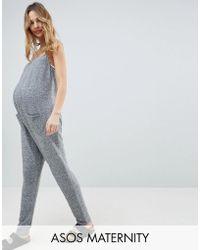 ASOS - Asos Design Maternity Lounge Super Jumpsuit - Lyst