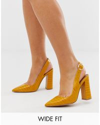 ASOS Wide Fit Penley Slingback High Heels - Multicolour