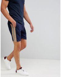 ASOS DESIGN - Drapey Slim Mid Smart Short With Side Stripe - Lyst