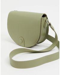 Stradivarius Saddle Cross Body Bag - Green