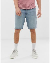 Tom Tailor – Lockere Jeans-Shorts mit Stone-Waschung - Blau