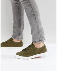 Lyle & Scott   Suede Sneakers Khaki   Lyst