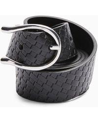 TOPSHOP Cinturón negro texturizado