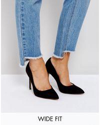 ASOS Paris Wide Fit Pointed Heels - Black