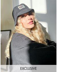 Reclaimed (vintage) Inspired - cappello unisex da pescatore con logo - Nero