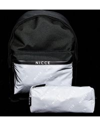 Nicce London Backpack And Pencil Case - Metallic