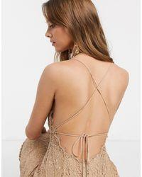 ASOS Кружевное Платье-футляр Миди С Квадратным Вырезом - Многоцветный