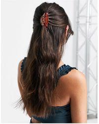 Pieces Pince à cheveux - transparent - Orange